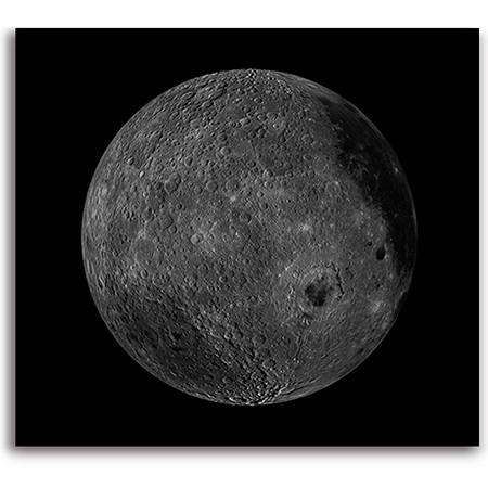 Tirage photographique de la lune et ses détails