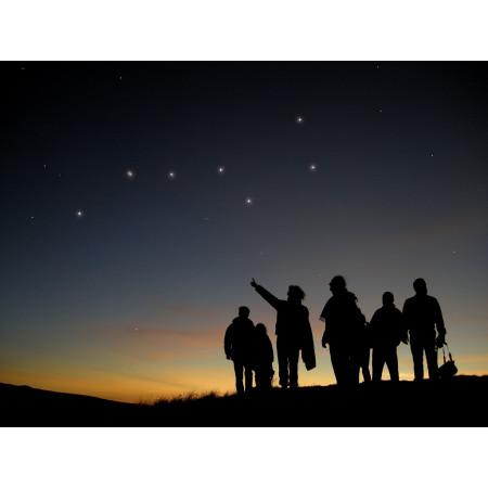 silhouettes d'observateurs du ciel ©AFA