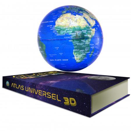 Globe terreste en lévitation sur un livre