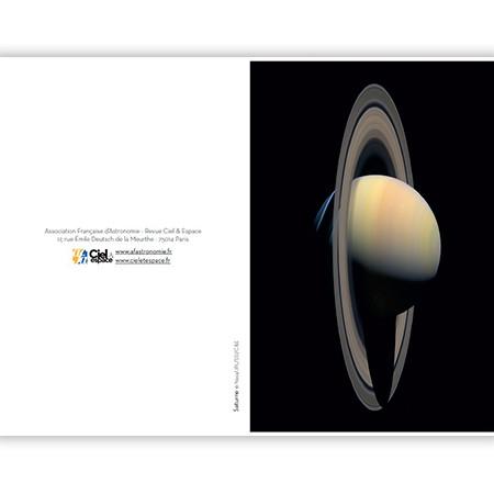 cartes postales Saturne planète