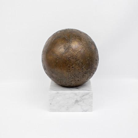 objet décoration astronomie cassiom globe lunaire en bronze 2