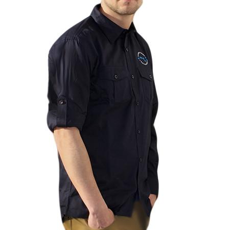 Chemise de l'AFA couleur bleu vue de profile