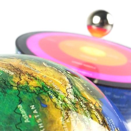 Globe Lumineux avec noyau terrestre en lévitation