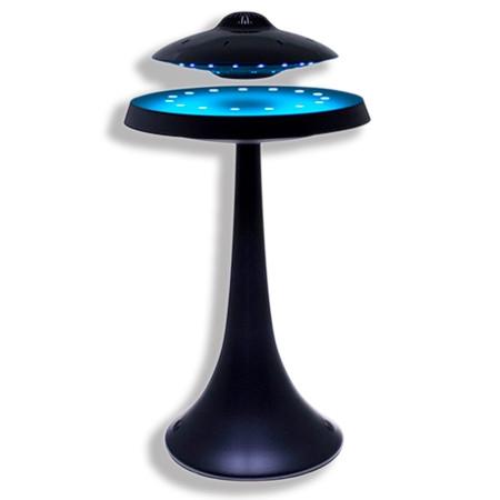 Enceinte en lévitation avec lumières leds bleus