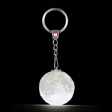 Porte clés lune lumineuse