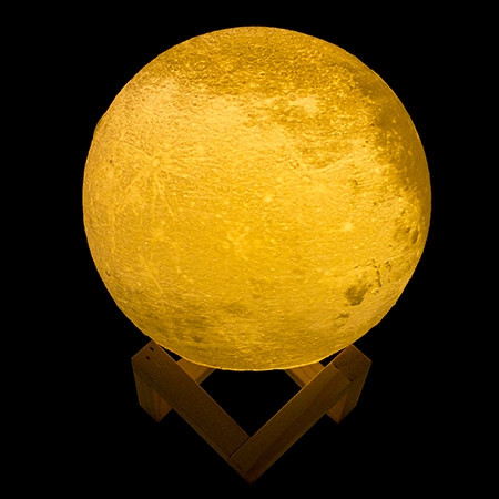 Lampe lune en reliefs 3D