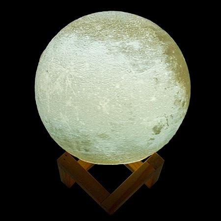 Lampe led lune en reliefs 3D