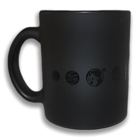 mug planètes noir mate