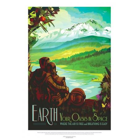 galleryastro poster retro Affiche Earth ©AFA