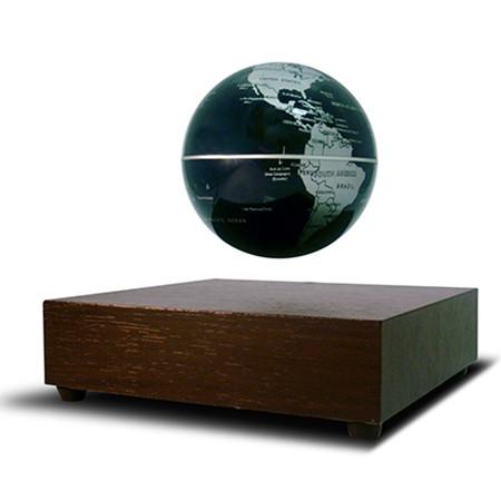 Globe terrestre flottant base en bois