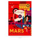 Poster NASA Rétro - Mars