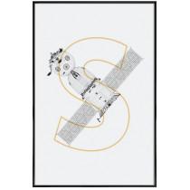 Soyuz modul - Affiche Juniqe avec cadre noir 2