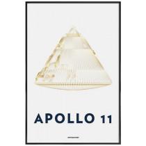 APOLLO 11 LANDING MODULE 6 - Affiche Juniqe avec cadre noir 2