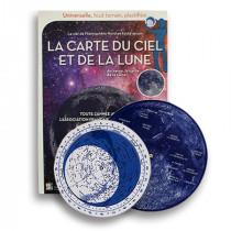 Carte du ciel et de la lune astronomie