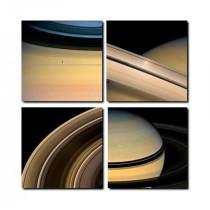 tirage photographique de Saturne par la sonde Cassini