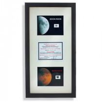 Duo de fragments lune et mars dans un cadre de décoration
