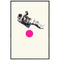 Float - Affiche Juniqe avec cadre noir