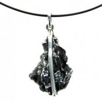 Pierre météorite pendentif en argent