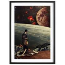 The Roses Came - Affiche Juniqe avec cadre noir