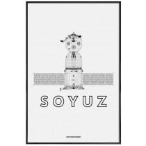 Soyuz - Affiche Juniqe avec cadre noir 2
