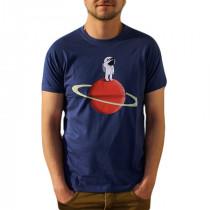 Tee-shirt astronaute couleur denim