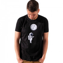 Tee-shirt illustration astronaute couleur denim