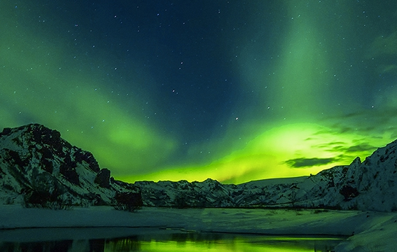 un circuit pour découvrir les aurores boréales en Islande proposé par l'association française d'astronomie